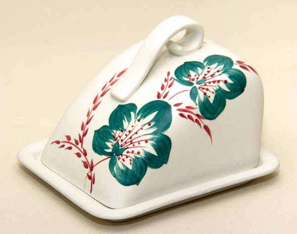Radford Hand Painted Butter Cheese Dish, Radford Hand Painted Butter Cheese Dish With Lid