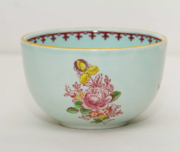 Adams Calyx Ware, Adams Calyx Ware Micratex green pink Oriental flowers Vintage Adams crown mark English Ironstone sugar bowl dish pottery replacements