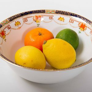 Alfred Meakin vintage blue and gold Garland fruit bowl
