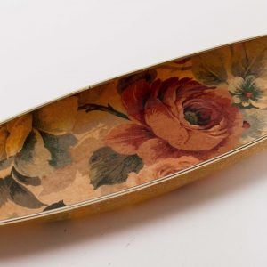 Arnold designs Vintage Mid Century kitsch large long oval serving tray roses floral pattern Chalford Gloucestershire