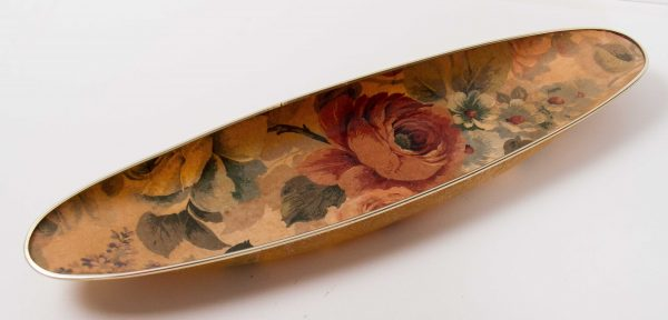 Arnold Designs Tray, Arnold Designs Vintage Mid Century kitsch large long oval serving tray roses floral pattern Chalford Gloucestershire