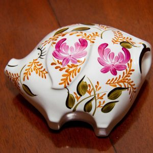 Arthur Wood hand painted vintage kitsch wall hanging pig decorative