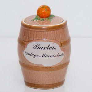 Baxters vintage marmalade pot jar with lid Clovercraft Made in England kitchen kitsch