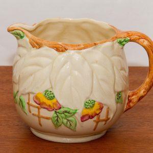 Brentleigh Ware Staffordshire, 'Beech' Design  botanical leaf pattern vintage large jug Pottery England