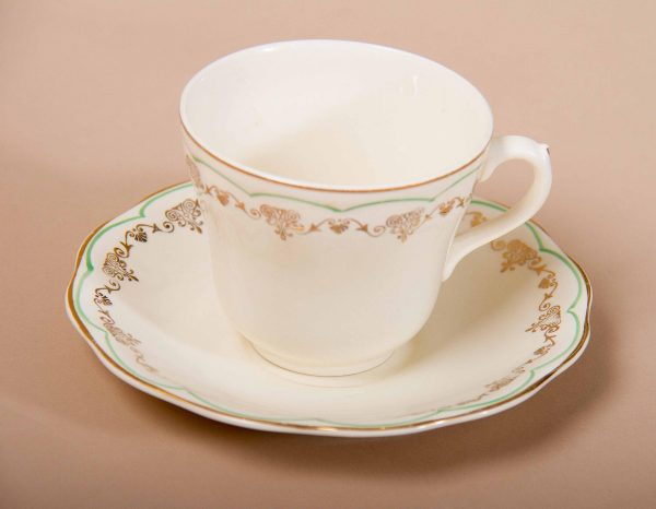 , British Anchor Regency Vintage Tea Cup & Saucer Staffordshire Potteries England