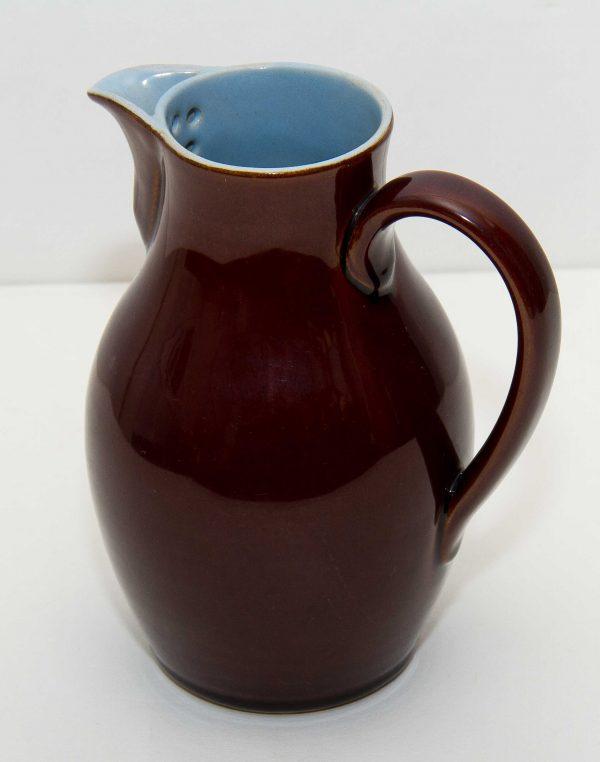 Denby Pottery Brown Jug, Denby Stoneware Large Brown & Blue Jug