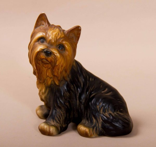 , Harvey Knox HHH pottery Yorkshire Terrier sitting dog