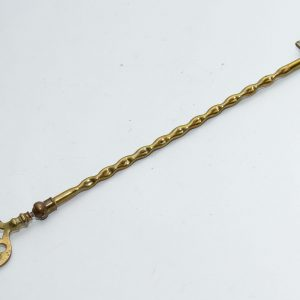 Shanklin, Isle of Wight, England brass toasting fire fork jointed ball moving end long fork Patented Registered design