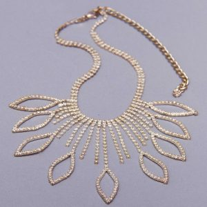 Vintage Rhinestone sparkly necklace Lee Sands