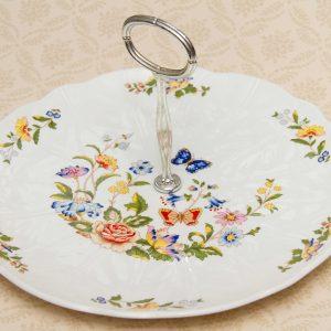 Aynsley Cottage Garden cake plate