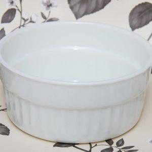 Pyrex milk glass large dish