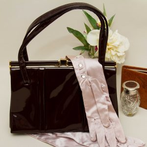 brown patent APD Dittner bag