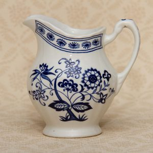 J & G Meakin blue and classic white jug