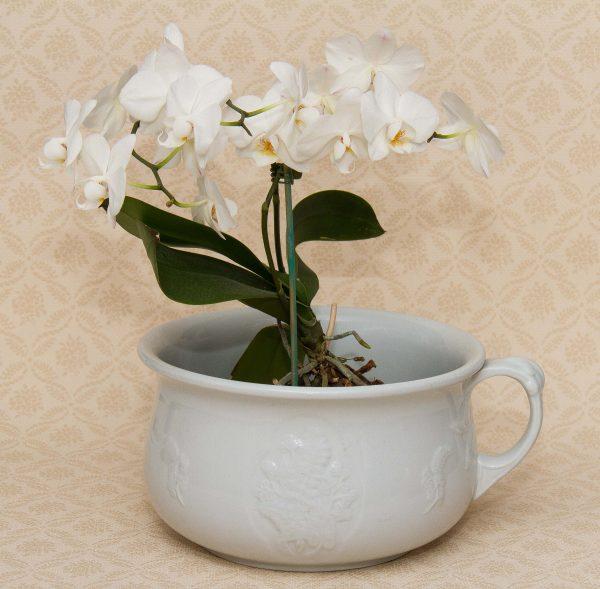 MEAKIN Vintage Ironstone China White Chamber Pot