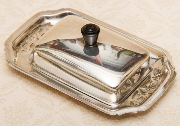 Antique Silver Plated Butter Dish, Antique Silver Plated Small Covered Butter Dish Francis Howard & Sons Sheffield England