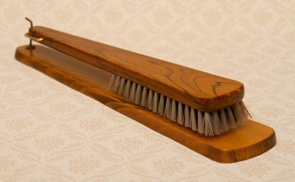 Wooden Valet Hall Clothes Brush, Vintage Wood Wooden Valet Hall Clothes Brush And Wall Hanger 1960's 1970's
