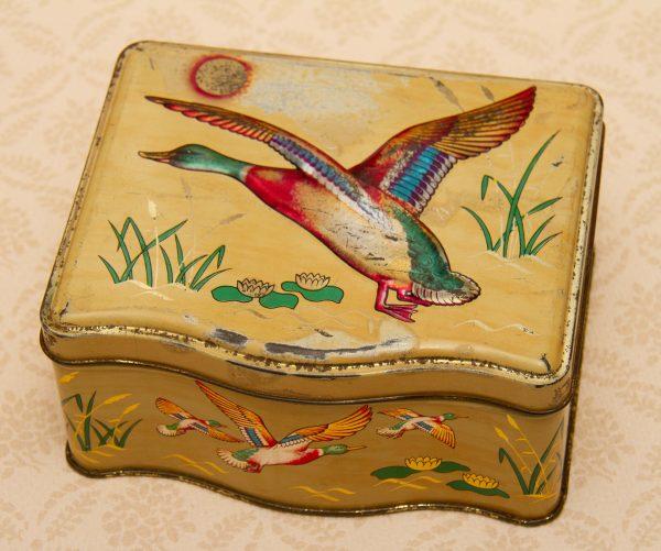 Tin Flying Mallard Ducks, Vintage Tin Flying Mallard Ducks Birds
