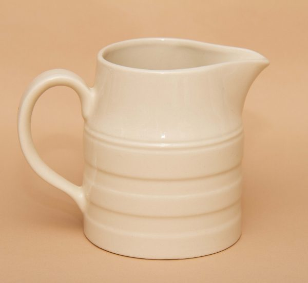 Heron Cross Pottery jug, Heron Cross Pottery Staffordshire Classic White Jug Pitcher