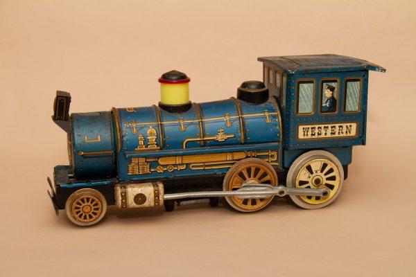 Vintage Western Locomotive Tin Toy Train, Vintage Western Locomotive Tin Toy Train Engine Japan Battery Powered