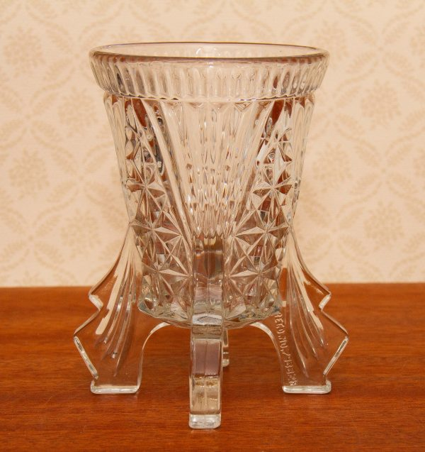 Art Deco Libochovice Glass, Art Deco Libochovice Czech Glass Rocket-Finned Vase Reg. No. 798828 Circa 1930's