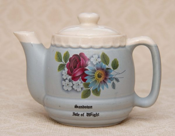 Buckfast Pottery Devon Teapot, Buckfast Pottery Devon Small Teapot Sandown Isle of Wight Vintage 1950's Souvenir