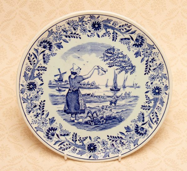 Delfts Made for Royal Sphinx Holland By Boch Belgium, Delfts Blue & White Plate Made for Royal Sphinx Holland By Boch Belgium