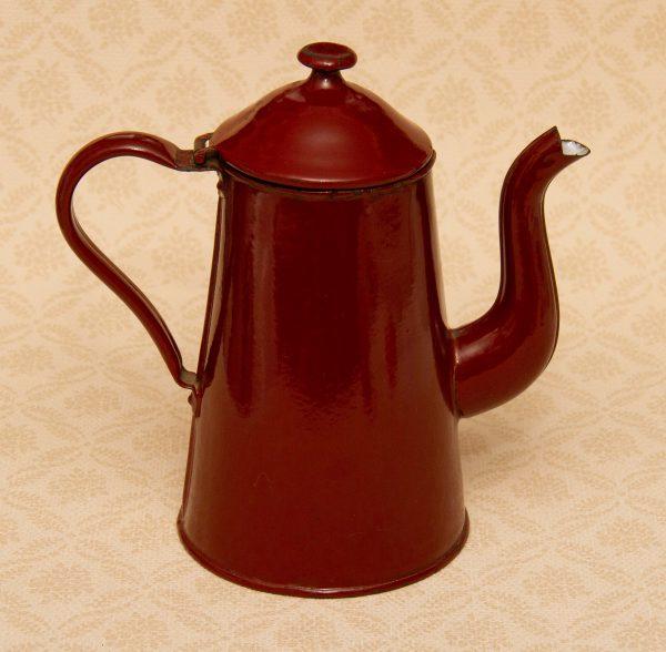 brown enamel coffee pot, Brown Enamel Coffee Vintage Coffee Pot