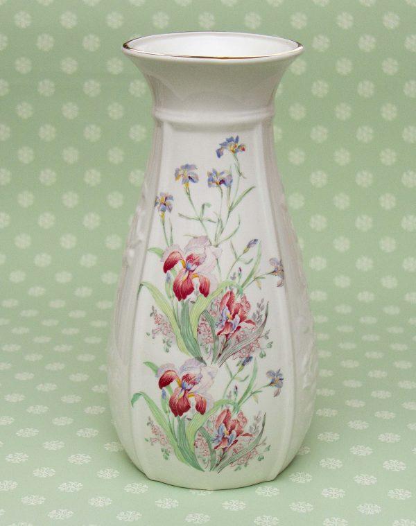 Norcroft fine bone china vase, Norcroft Fine Bone English China Vase Floral Pattern