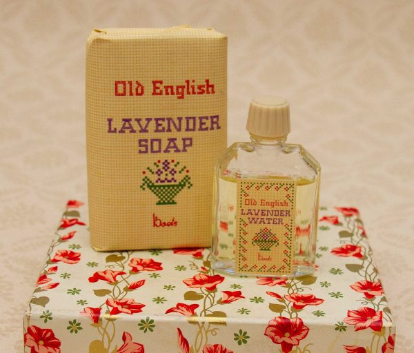 Boots Old English Lavender, Boots Old English Lavender Water Perfume and Soap Fragrance Set in Box 1960's