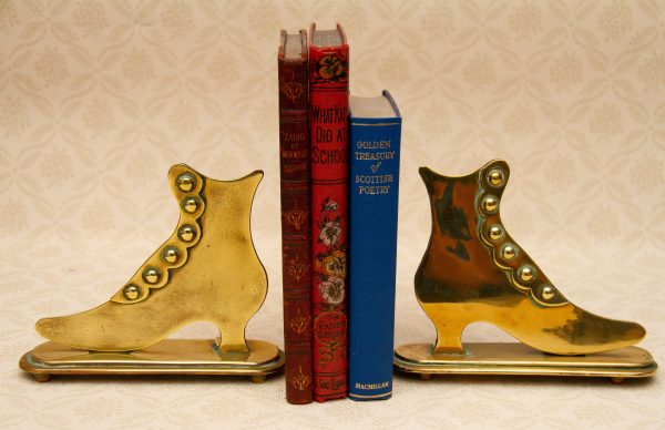 Brass Bookends, Pair of Boots/Shoes Vintage Brass Bookends