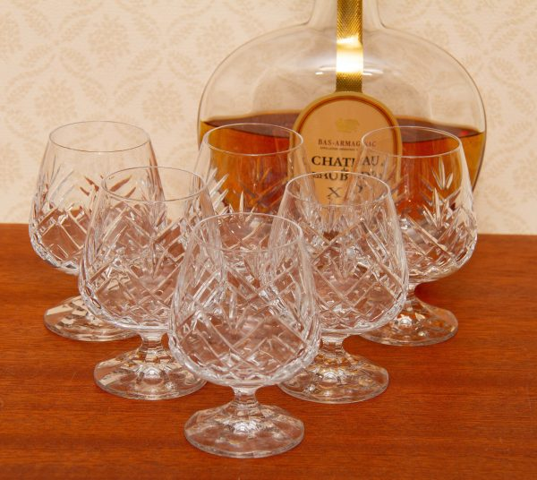 Crystal brandy glasses, Stunning Schott-Zwiesel Crystal Tiffany Brandy Cognac Snifters Set 6 Glasses in Box