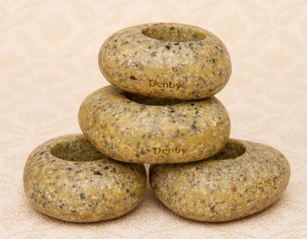 Denby Napkin Rings, Denby Energy Stone Pebble Effect 4 Napkin Rings Serviette Holder Stylish Dining Tableware