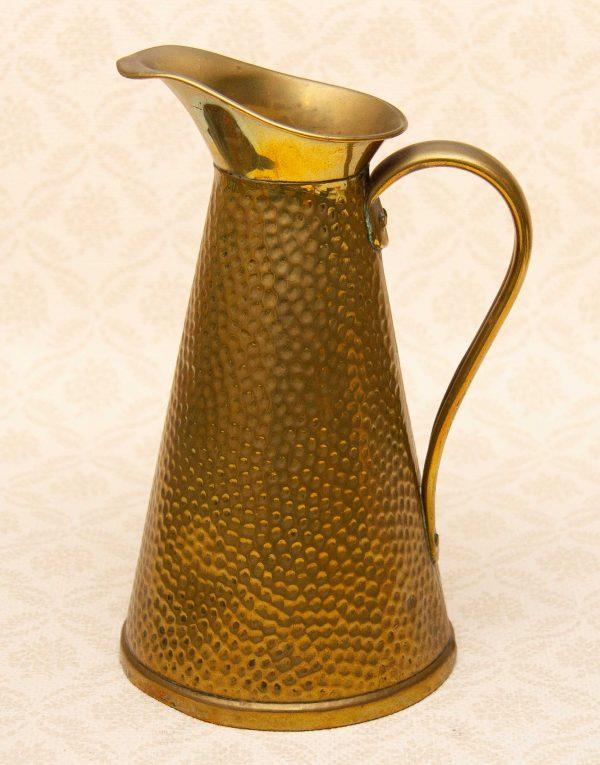 Joseph Sankey & Sons brass jug, Joseph Sankey & Sons Large Solid Brass Pitcher Jug JS&S