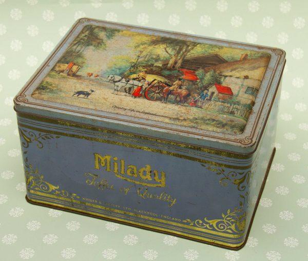 Milady Toffee Tin, Large Milady Toffee Tin – Waller & Hartley Ltd Blackpool, England