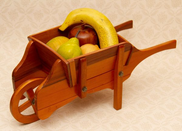 small wooden wheelbarrow, Wooden Wheelbarrow Planter, Plant Holder or Fruit Bowl – Shop Display