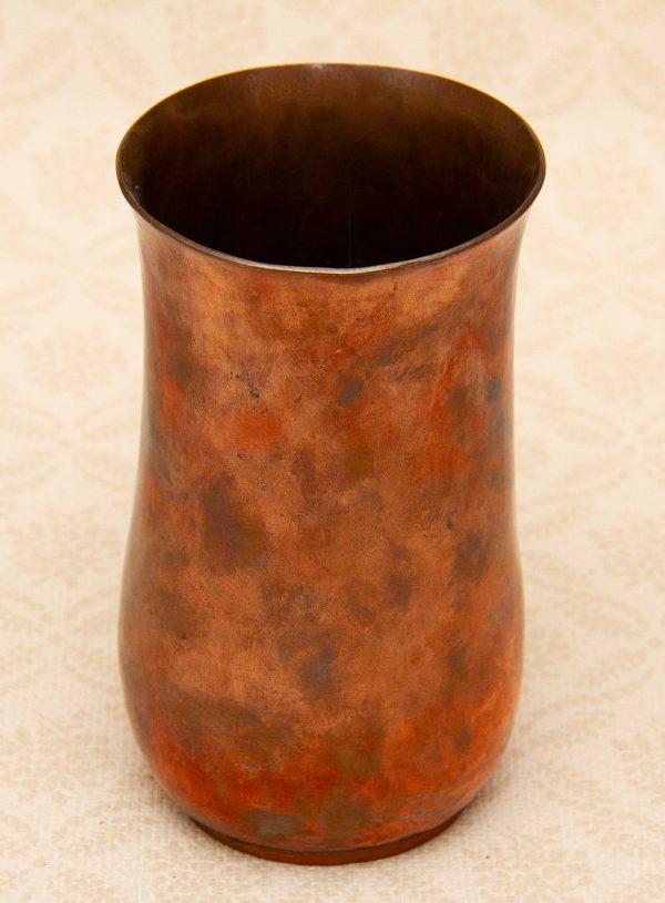 Heavy copper vase, Vintage Hammered Heavy Copper Vase