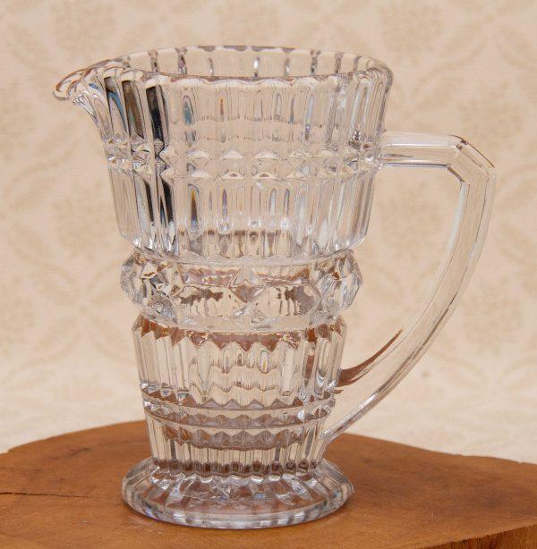 Vintage Clear Glass Jug, Tall Heavy Vintage Clear Glass Pitcher Jug Vase Fruit Water Jug