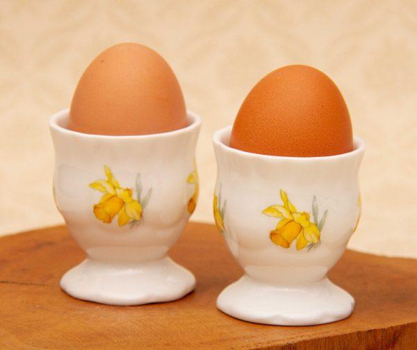 Grasmere Wordsworth Daffodils Egg Cups, Grasmere Wordsworth Daffodils Pair of Egg Cups, Williams of Grasmere