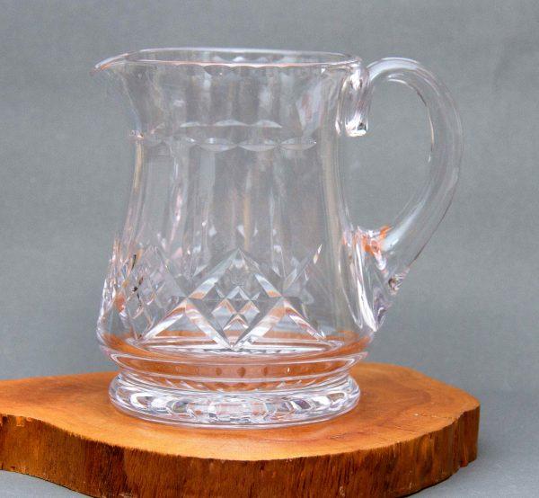Vintage Clear Glass Pitcher Jug, Large Heavy Vintage Clear Glass Pitcher Jug Vase Fruit Water Jug