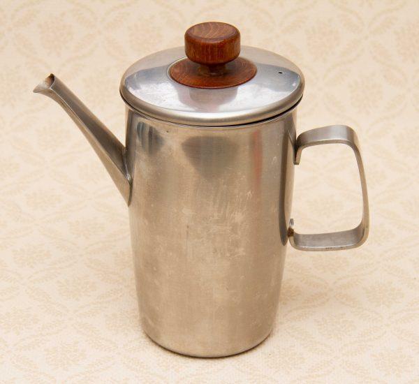 Viners Stainless Steel Vintage Retro coffee pot, Viners Modernist Vintage Stainless Steel Coffee Pot, Gerald Benney Design