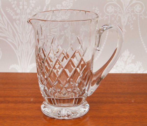 Vintage tall Glass Pitcher Jug, Tall Heavy Vintage Clear Glass Pitcher Jug Vase Fruit Juice, Water, Pimm's Jug