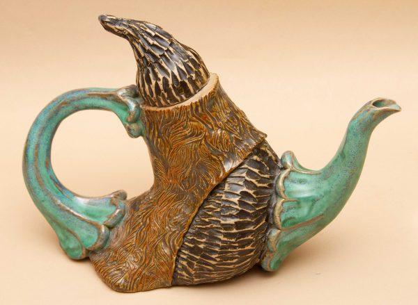 Jared Jaffe Studio Pottery Teapot, Jared Jaffe Studio Pottery Teapot Handcrafted Art Pottery, Signed