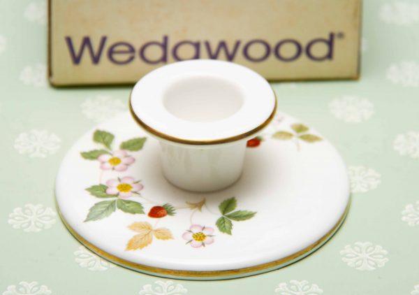 Wedgwood Wild Strawberry candle holder, Wedgwood Wild Strawberry Candle Holder